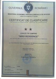 certificat clasificare cabanute