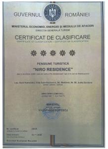 certificat clasificare pensiune